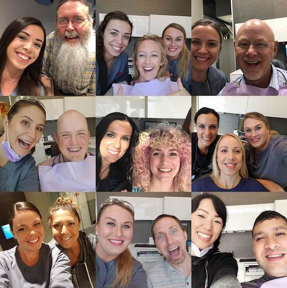 dentist Seattle WA - Smiling clients and team members at Aesthetica Contemporary Dentistry
