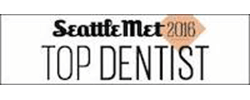 Logo of the Seattle Met Top Dentist award 2016