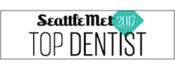 Logo for the Seattle Met Dentist 2017 award
