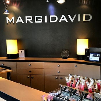 The entrances of MargiDavid - a hair salon in Eastlake Seattle and a neighbor to Aesthetica Contemporary Dentistry