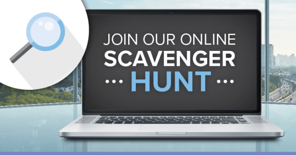 Banner advertising our Scavenger Hunt