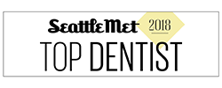 Logo for the Seattle Met Dentist 2018 award