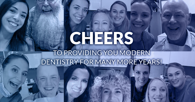 Cheers to providing dentistry for many more years!